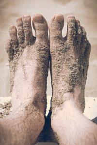 Nohy od piesku